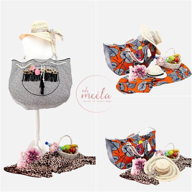 Produktfoto von oh meéla zum Nähen für Schnittmuster Louisa Strandtasche