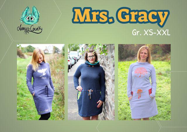 Produktfoto von Annas-Country zum Nähen für Schnittmuster Hoodiekleid Mrs. Gracy