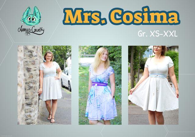 Produktfoto von Annas-Country zum Nähen für Schnittmuster Kleid Mrs. Cosima