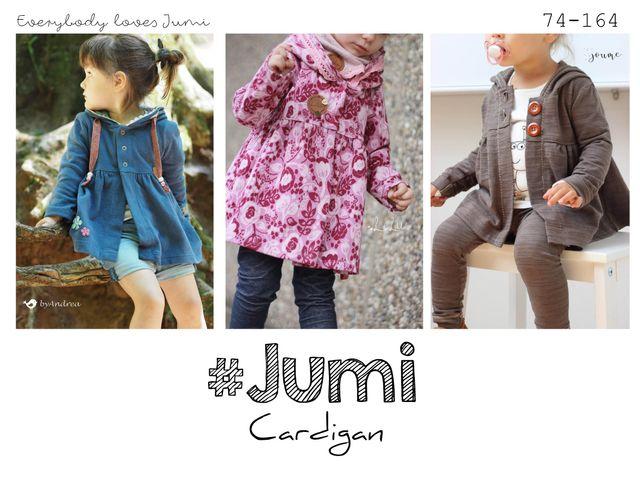 Produktfoto von rosarosa zum Nähen für Schnittmuster Cardigan Jumi 74-164