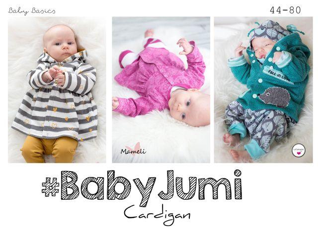 Produktfoto von rosarosa zum Nähen für Schnittmuster Cardigan Baby Jumi 44-80