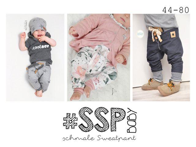 Produktfoto von rosarosa zum Nähen für Schnittmuster #SSP Baby - schmale Sweatpants 44-80
