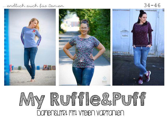 Produktfoto von rosarosa zum Nähen für Schnittmuster My Ruffle & Puff 34-46