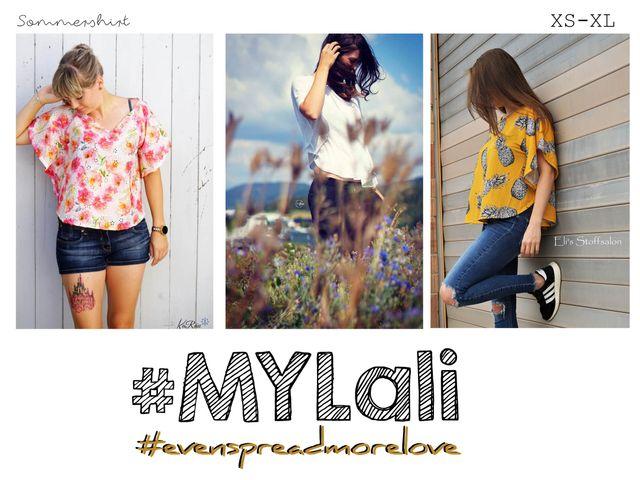 Produktfoto von rosarosa zum Nähen für Schnittmuster #myLali Sommershirt