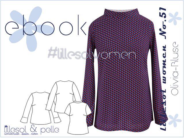 Produktfoto von Lillesol & Pelle zum Nähen für Schnittmuster Lillesol women No. 51 Olivia-Bluse