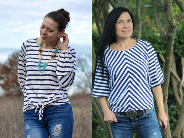 Produktfoto von drei eMs zum Nähen für Schnittmuster Shirt Grado