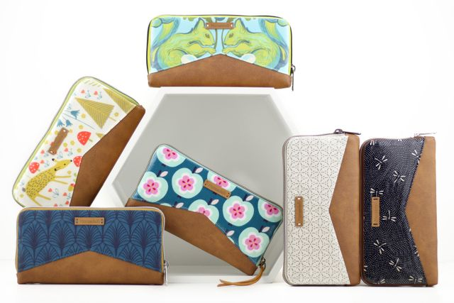 Produktfoto von Hansedelli zum Nähen für Schnittmuster Geldbörse Mynta