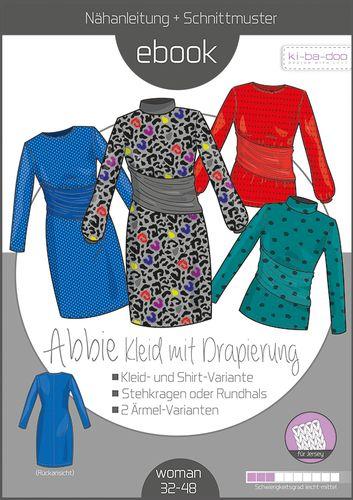 Produktfoto von ki-ba-doo zum Nähen für Schnittmuster Kleid mit Drapierung Abbie