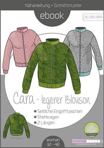 Produktfoto von ki-ba-doo zum Nähen für Schnittmuster Blouson Cara