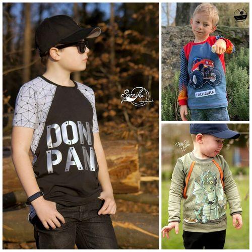 Produktfoto von Engelinchen zum Nähen für Schnittmuster Shirt College Boy
