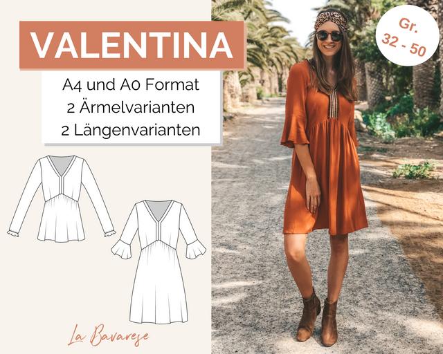 Produktfoto von La Bavarese zum Nähen für Schnittmuster Boho-Kleid und -Bluse Valentina