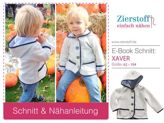 Produktfoto von Zierstoff zum Nähen für Schnittmuster Jacke Xaver 62-104