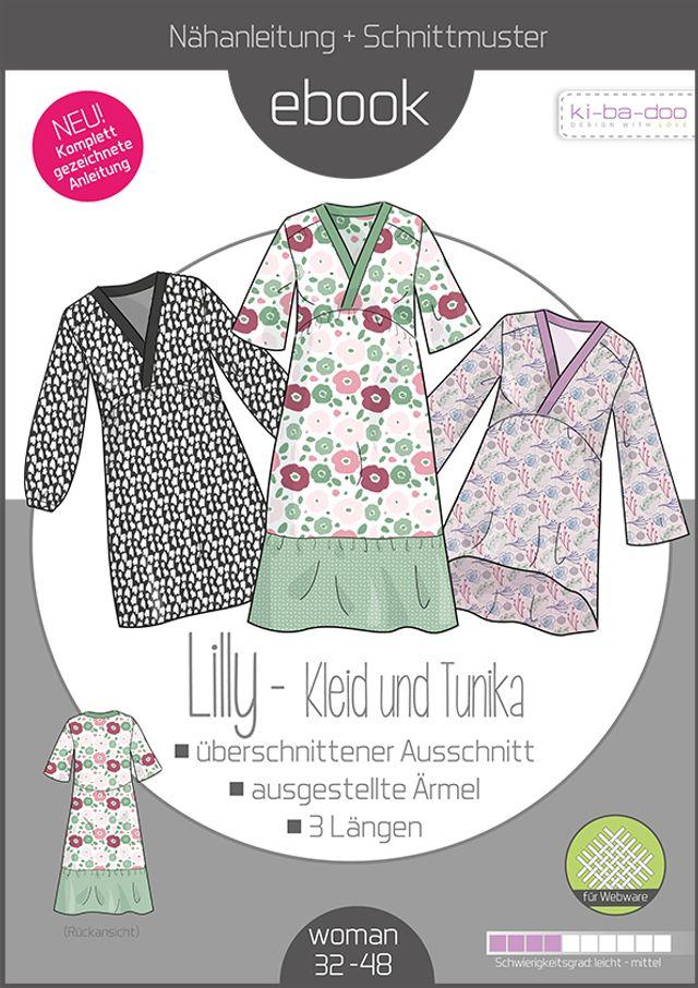 Produktfoto von ki-ba-doo zum Nähen für Schnittmuster Kleid und Tunika Lilly