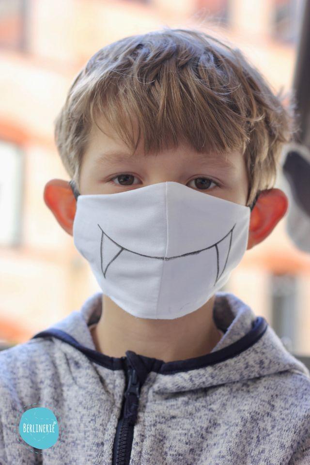 Produktfoto von Berlinerie zum Nähen für Schnittmuster Mund-Nasen-Maske Nr. 2, ergonomisch // kein Medizinprodukt