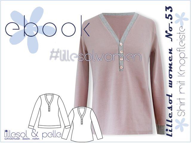 Produktfoto von Lillesol & Pelle zum Nähen für Schnittmuster Lillesol women No. 53 Shirt mit Knopfleiste