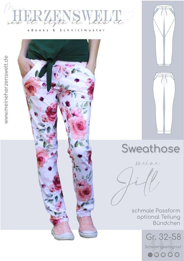 Produktfoto von Meine Herzenswelt zum Nähen für Schnittmuster Sweathose Damen - Meine Jill