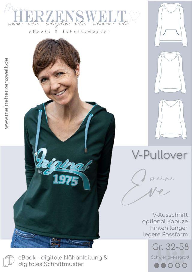 Produktfoto von Meine Herzenswelt zum Nähen für Schnittmuster Pullover Damen - Meine Eve