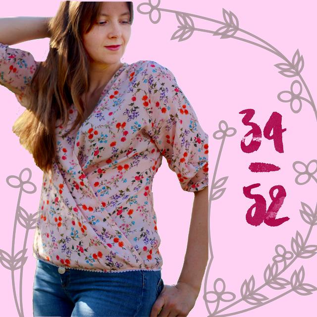 Produktfoto von Anni Nanni zum Nähen für Schnittmuster AnniNanni Sommerbluse/Wickelbluse