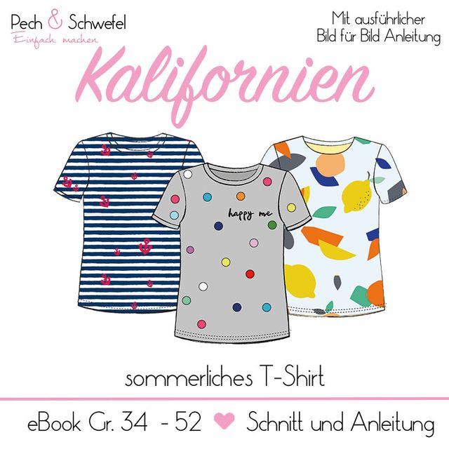 Produktfoto von Pech & Schwefel zum Nähen für Schnittmuster T-Shirt Kalifornien