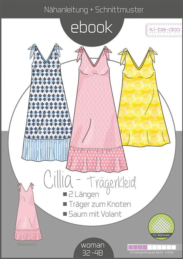 Produktfoto von ki-ba-doo zum Nähen für Schnittmuster Trägerkleid Cillia