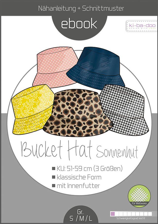 Produktfoto von ki-ba-doo zum Nähen für Schnittmuster Sonnenhut Bucket Hat