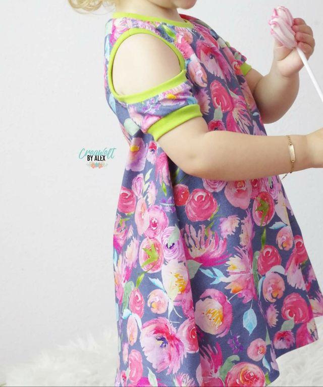 Produktfoto von FrleinFaden zum Nähen für Schnittmuster Kleid Schulterfrei 68-98