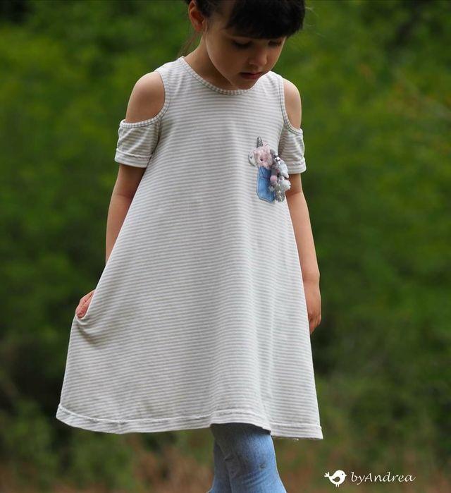 Produktfoto von FrleinFaden zum Nähen für Schnittmuster Kleid Schulterfrei 104-140