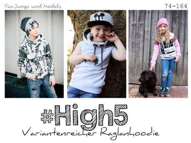Produktfoto von rosarosa zum Nähen für Schnittmuster #High5 Hoodie