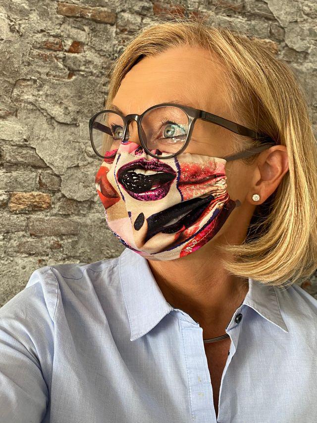 Produktfoto von BeeKiddi zum Nähen für Schnittmuster Die Maske von BeeKiddi // Kein Medizinprodukt