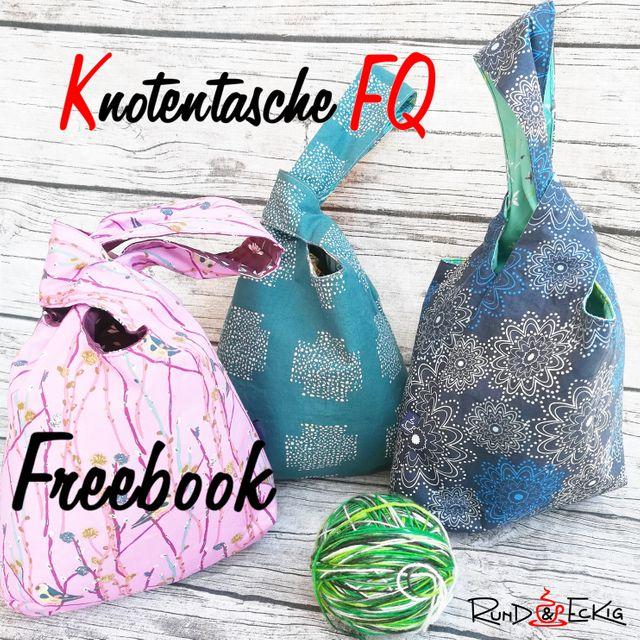Produktfoto von RUND und ECKIG zum Nähen für Schnittmuster Knotentasche FQ