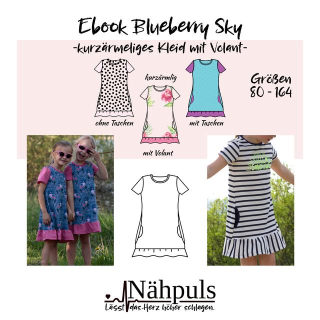 Produktfoto von Nähpuls zum Nähen für Schnittmuster Kleid Blueberry Sky