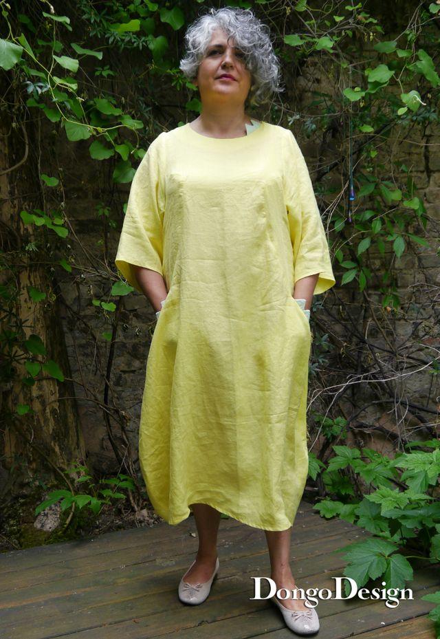 Produktfoto von DongoDesign zum Nähen für Schnittmuster Leinenkleid Korsika