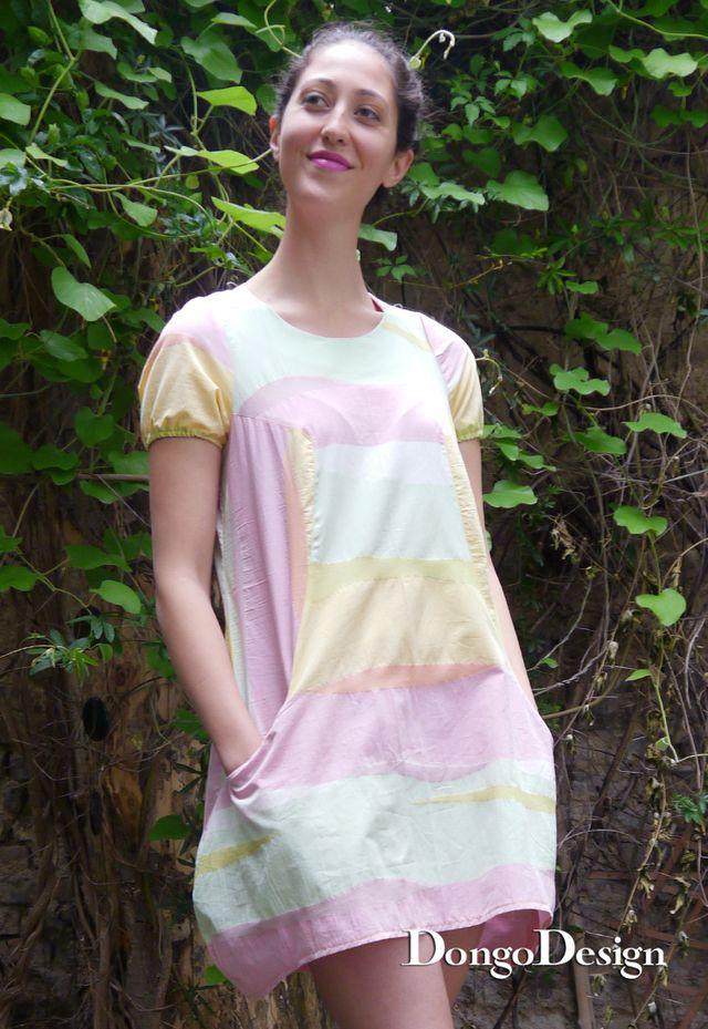 Produktfoto von DongoDesign zum Nähen für Schnittmuster Leinenkleid Korfu