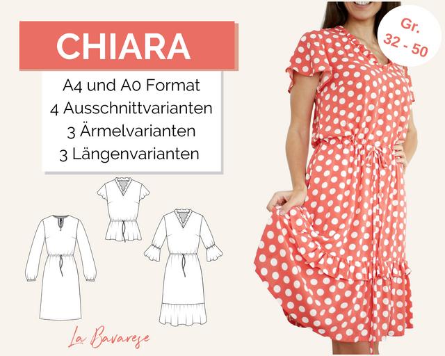 Produktfoto von La Bavarese zum Nähen für Schnittmuster Sommerkleid & -Bluse Chiara