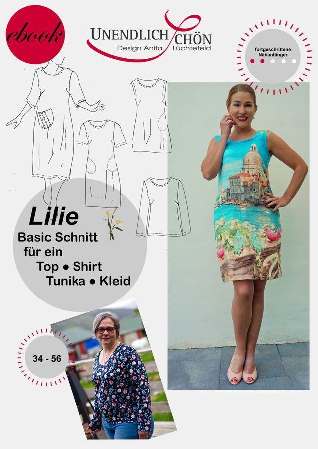 Produktfoto von Unendlich schön - Design Anita Lüchtefeld zum Nähen für Schnittmuster Basic Oberteil Lilie