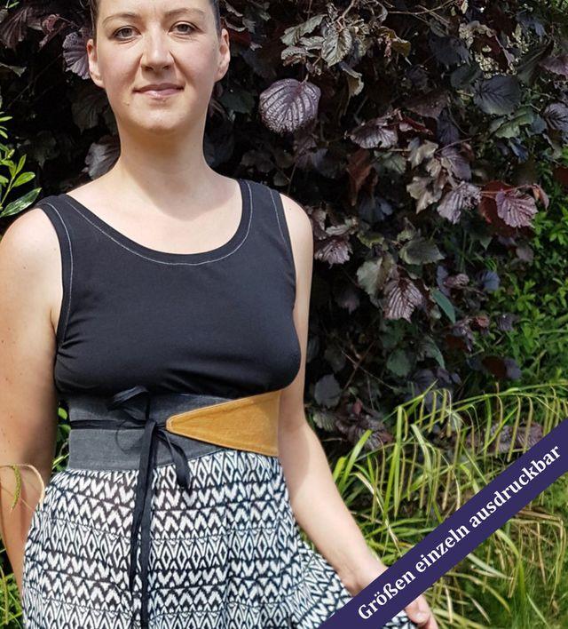 Produktfoto von Unendlich schön - Design Anita Lüchtefeld zum Nähen für Schnittmuster Taillen-Wickel-Wendegürtel Rayen