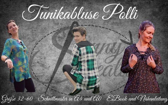 Produktfoto von Sanny Kreativ zum Nähen für Schnittmuster Tunikabluse Polli