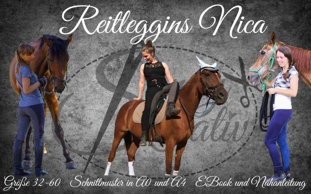 Produktfoto von Sanny Kreativ zum Nähen für Schnittmuster Reitleggings Nica