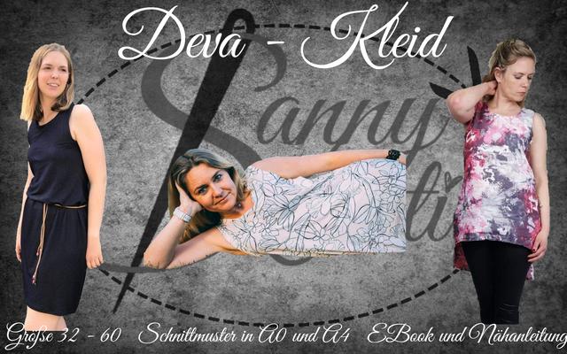 Produktfoto von Sanny Kreativ zum Nähen für Schnittmuster Kleid/Tunika Deva