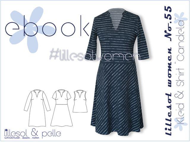 Produktfoto von Lillesol & Pelle zum Nähen für Schnittmuster Lillesol women No. 55 Kleid & Shirt Candela