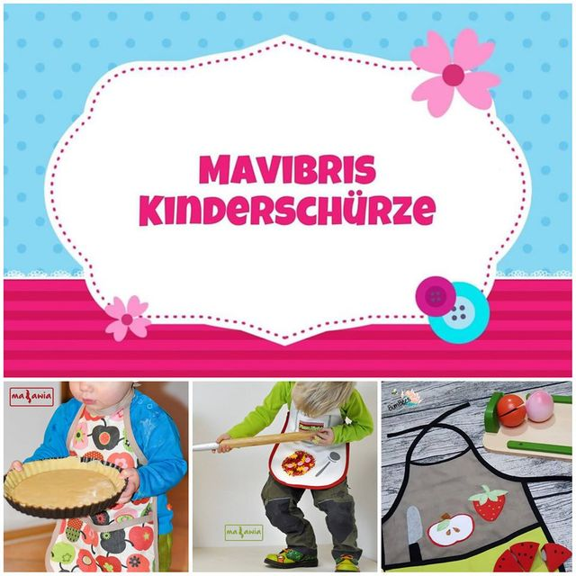Produktfoto von Mavibri zum Nähen für Schnittmuster Mavibris Kinderschürze