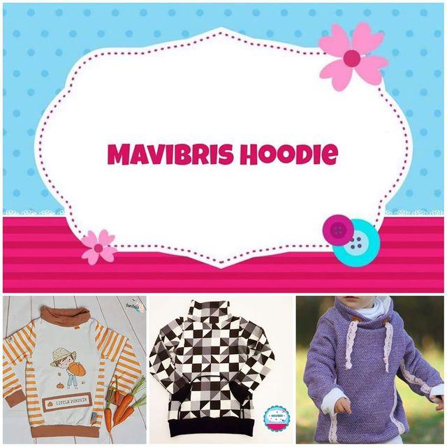 Produktfoto von Mavibri zum Nähen für Schnittmuster Mavibris Hoodie