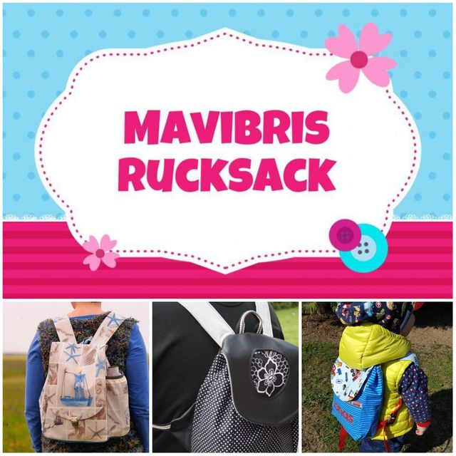Produktfoto von Mavibri zum Nähen für Schnittmuster Mavibris Rucksack