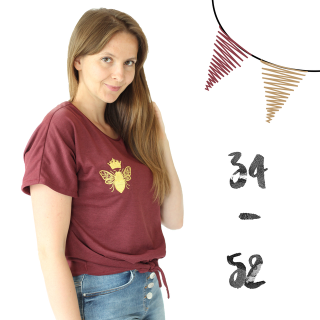 Produktfoto von Anni Nanni zum Nähen für Schnittmuster AnniNanni Knotenshirt Damen