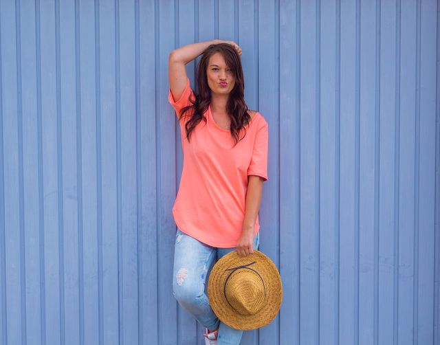 Produktfoto von lemon & mint Couture zum Nähen für Schnittmuster Basicshirt Maui