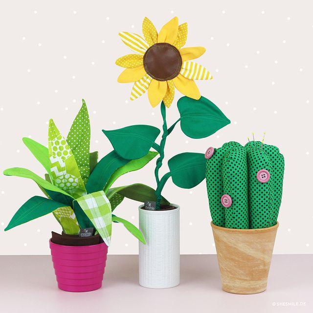 Produktfoto von shesmile zum Nähen für Schnittmuster Zimmerpflanze Frieda Flower