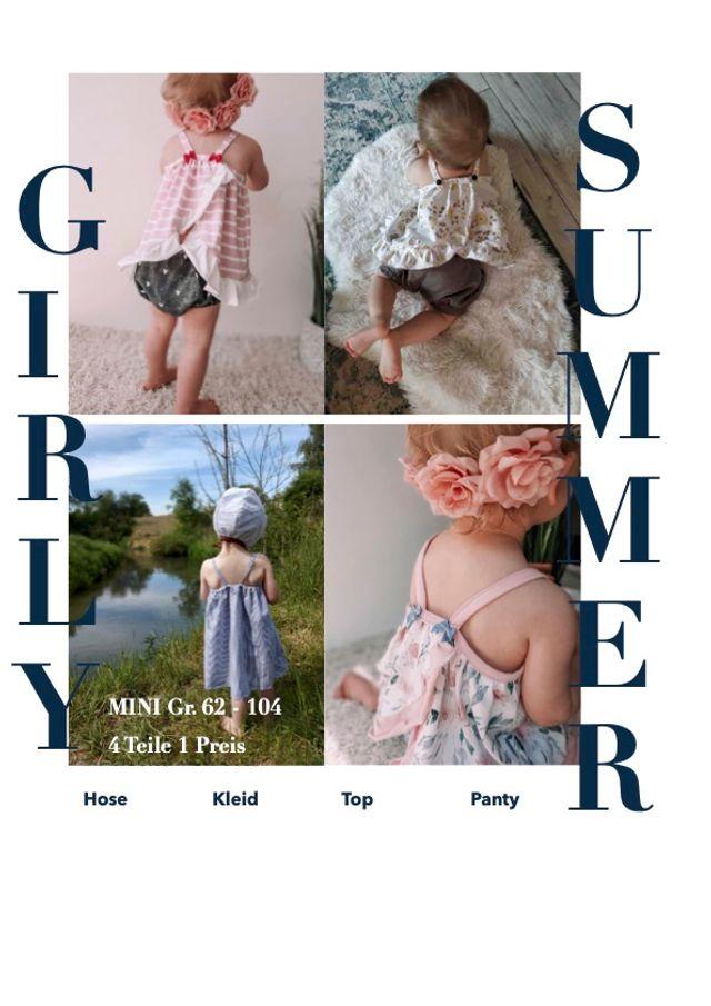 Produktfoto von Sara & Julez zum Nähen für Schnittmuster Girly Summer Set Mini
