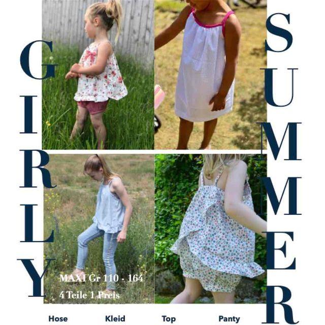 Produktfoto von Sara & Julez zum Nähen für Schnittmuster Girly Summer Set Maxi