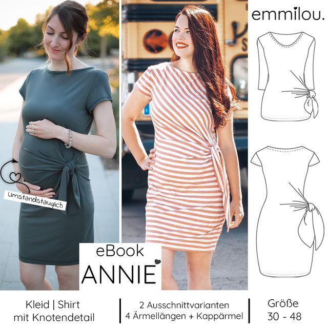 Produktfoto von emmilou. zum Nähen für Schnittmuster Kleid/Shirt Annie