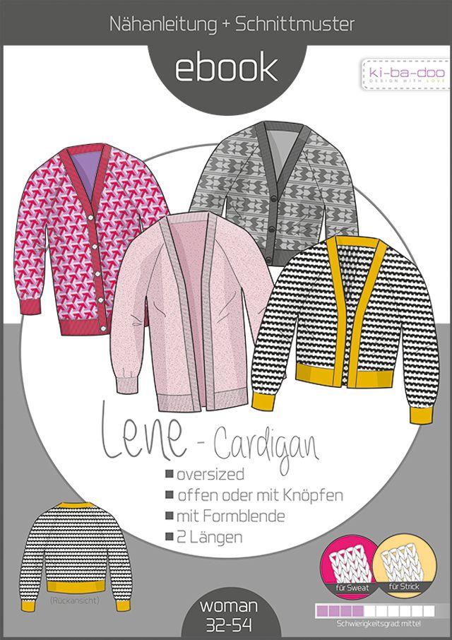 Produktfoto von ki-ba-doo zum Nähen für Schnittmuster Oversize Cardigan Lene